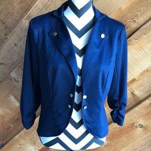John Paul Richard Navy Knit Jacket Size M